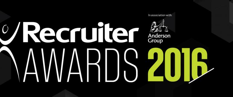 Recruiter Awards banner